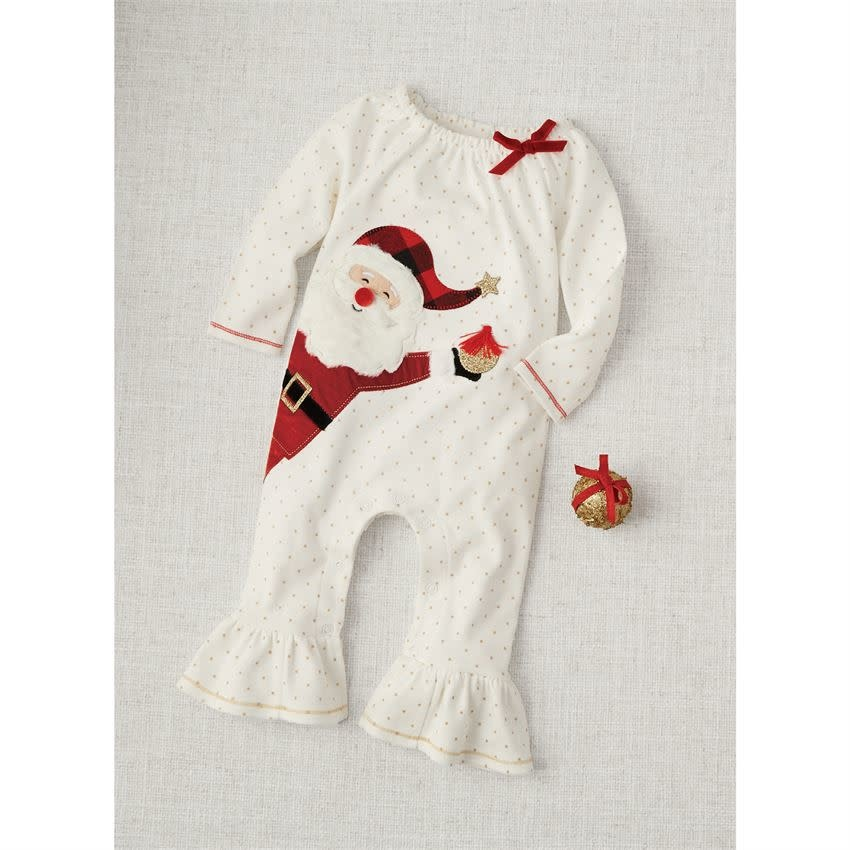 MUD PIE ALPINE SANTA RUFFLE ONE-PIECE