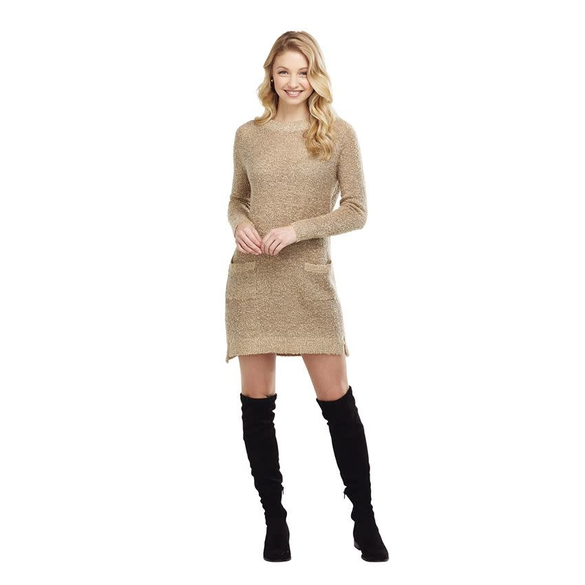 MUD PIE JORDY SWEATER DRESS- TAN