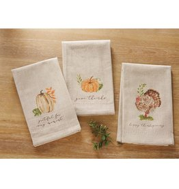 MUD PIE GATHER OATMEAL TOWELS