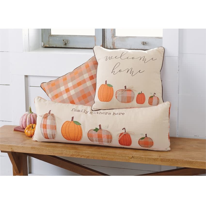 MUD PIE PUMPKIN FAMILY PILLOWS