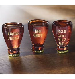 MUD PIE BEER STYLE SHOT GLASSES