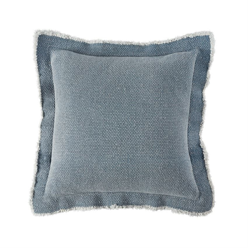 MUD PIE DARK BLUE FLANGE PILLOW
