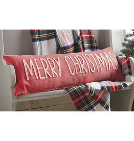 MUD PIE MERRY CHRISTMAS WASHED CHRISTMAS PILLOW