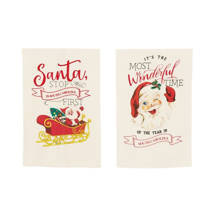 MUD PIE NORTH CAROLINA CHRISTMAS TOWELS