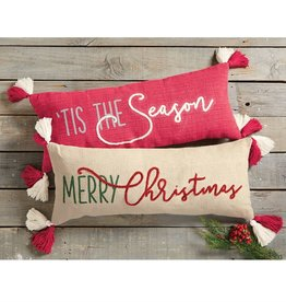 MUD PIE CHRISTMAS DHURRIE PILLOWS