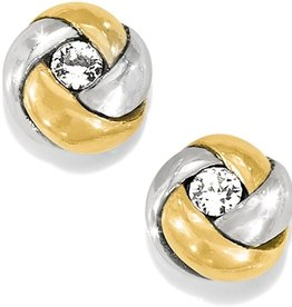 BRIGHTON love me knot silver/gold post earring