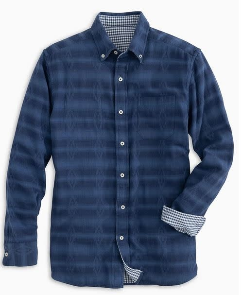 SOUTHERN TIDE gingham reversible sport shirt