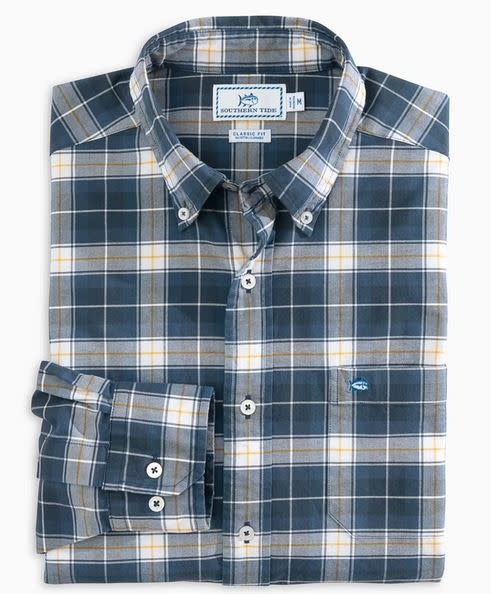 SOUTHERN TIDE oxford plaid sportshirt