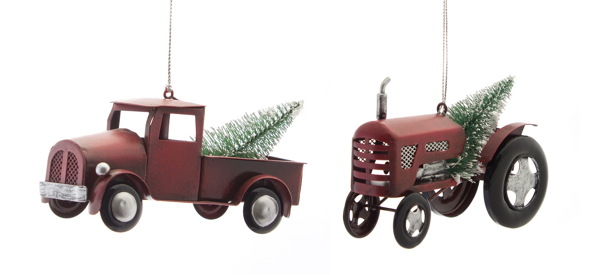TRUCK AND TRACTOR ORNAMENTS