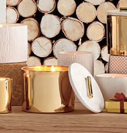 THYMES FRASIER FIR GILDED POURED CANDLE, 3 WICK