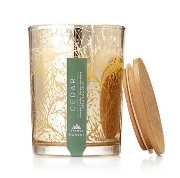 THYMES FOREST SMALL LUMINARY POURED CANDLE, CEDAR