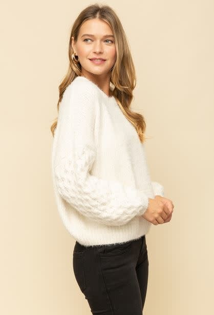 cable sleeves sweater