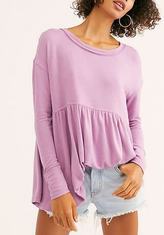 FREE PEOPLE forever your girl babydoll tee