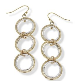 CANVAS Piper linked ring earrings