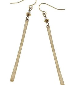 CANVAS Matchstick earrings in worn gold