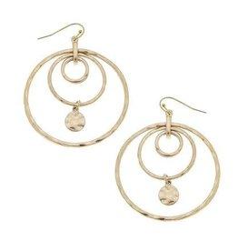 CANVAS Reine layered hoop earring- worn gold
