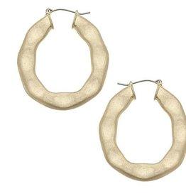 CANVAS Willow hoop earrings in worn gold