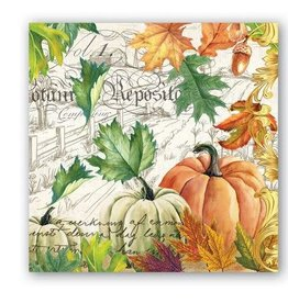 MICHEL DESIGN WORKS Fall harvest cocktail napkin