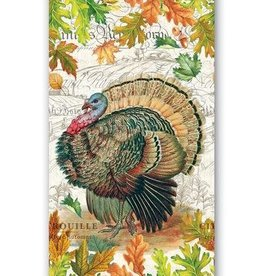 MICHEL DESIGN WORKS FALL HARVEST TURKEY HOSTESS NAPKIN