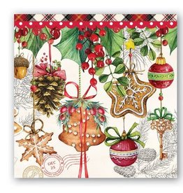 MICHEL DESIGN WORKS holiday treats cocktail napkins