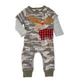 MUD PIE CAMO MOOSE ONE-PIECE OUTFIT