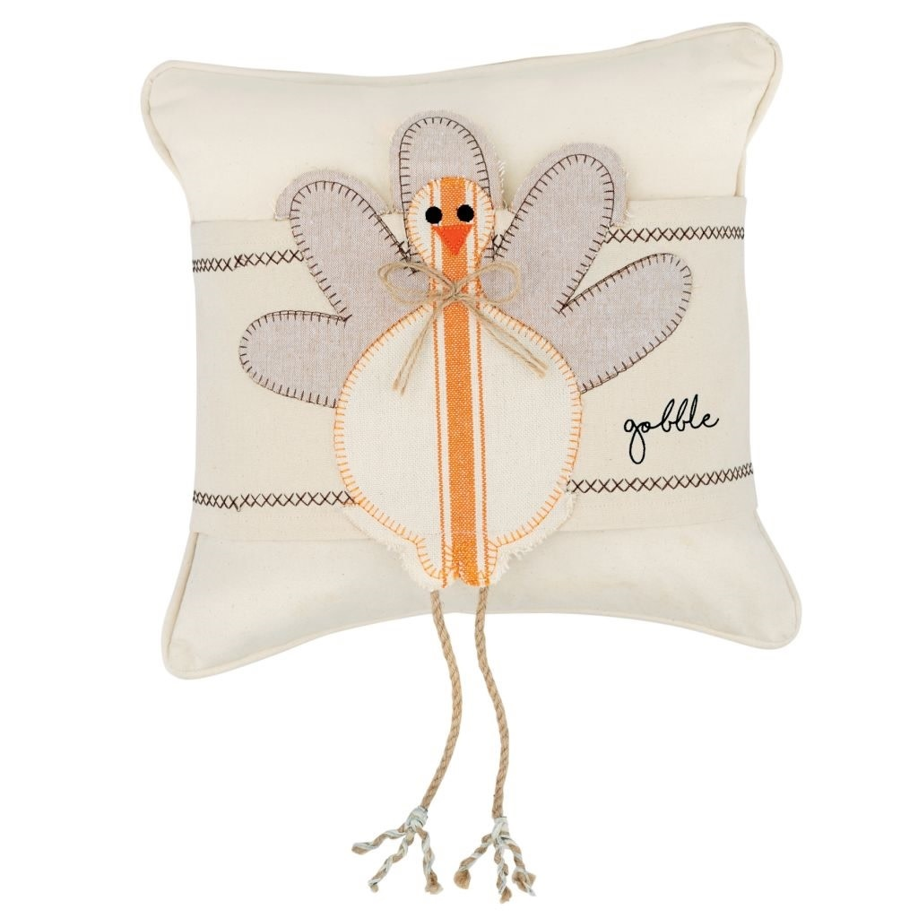 MUD PIE TURKEY DANGLE LEG PILLOW WRAP
