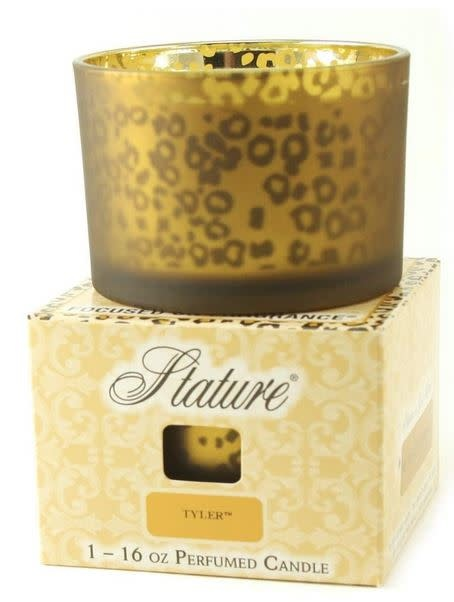 TYLER CANDLES 16 OZ STATURE GOLD LEOPARD