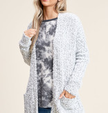 OPEN FRONT CARDIGAN WITH POCKET