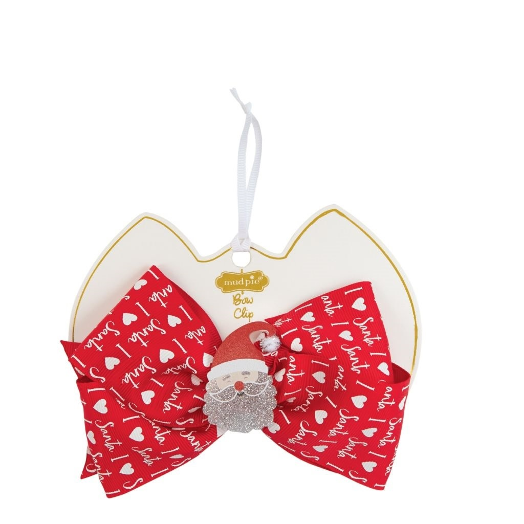 MUD PIE holiday acrylic bow