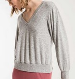 Z SUPPLY the marled twist back top