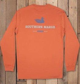 SOUTHERN MARSH long sleeve trademark duck tee