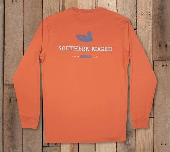 SOUTHERN MARSH long sleeve trademark duck tee