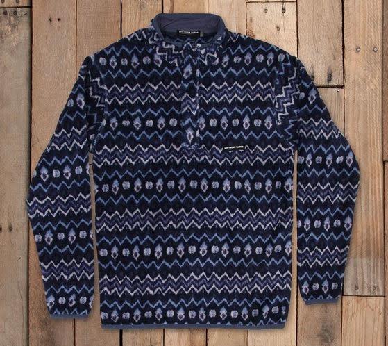 SOUTHERN MARSH Tangier ikat fleec pullover