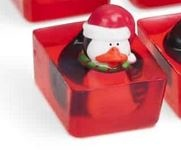 BATH BUDDY HOLIDAY SOAP PENGUIN red hat