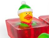 ugly christmas sweater duck soap