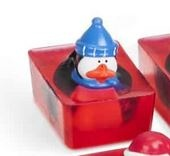 BATH BUDDY HOLIDAY SOAP penguin blue hat