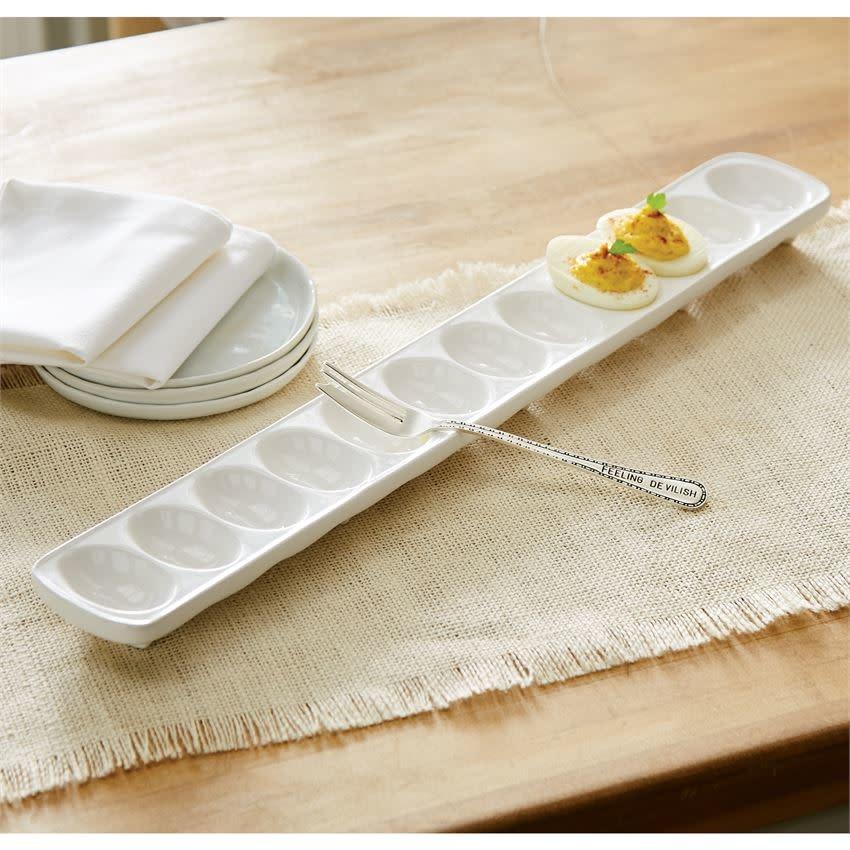 MUD PIE deviled egg tray set
