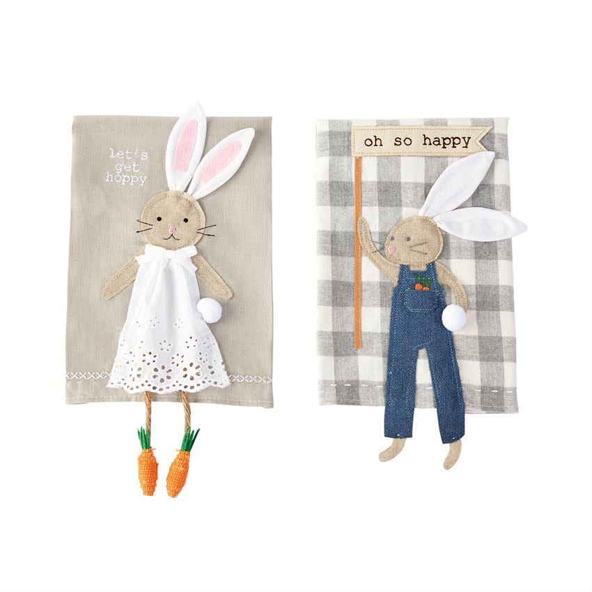 MUD PIE BUNNY DANGLE LEG TOWELS