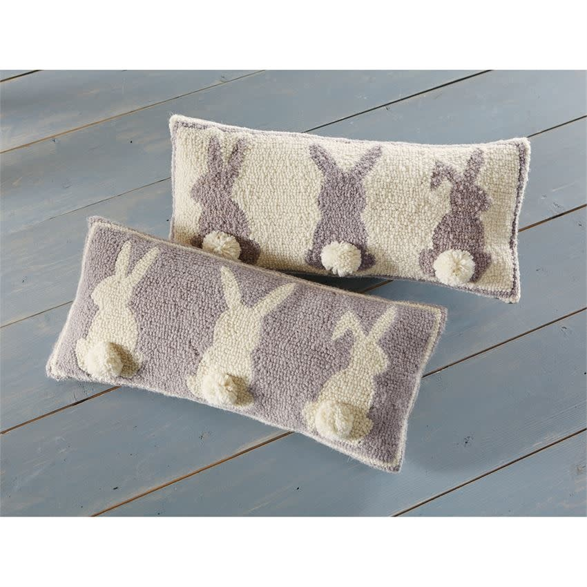 MUD PIE triple bunny hooked pillows