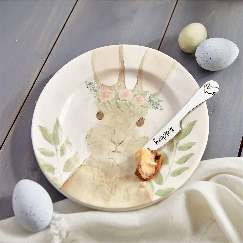MUD PIE watercolor bunny cheese set