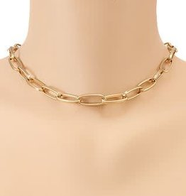 THIN LINKED CHAIN CHOKER