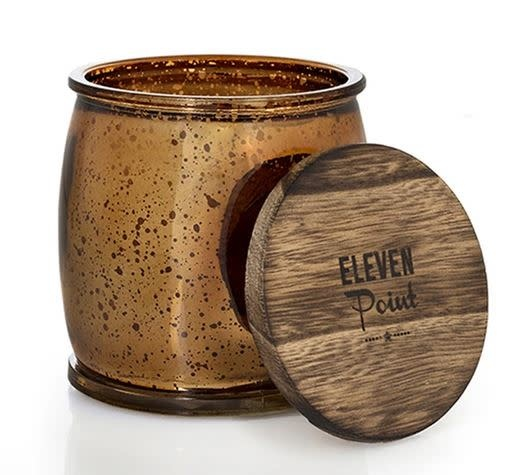 ELEVEN POINT CANDLES BRONZE MERCURY BARREL CANDLE-COMPASS