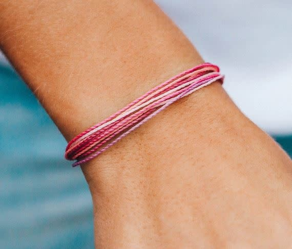 PURAVIDA bright original bracelet- stop and smell the roses