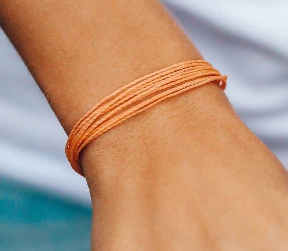 PURAVIDA bright solid bracelet- peach