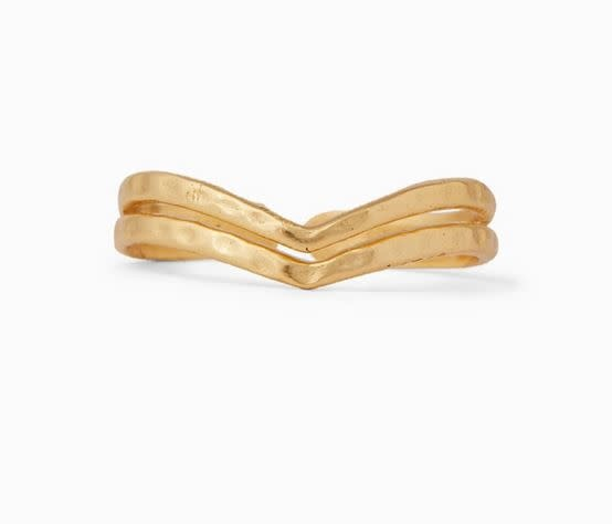 PURAVIDA CHEVRON TOE RING- gold