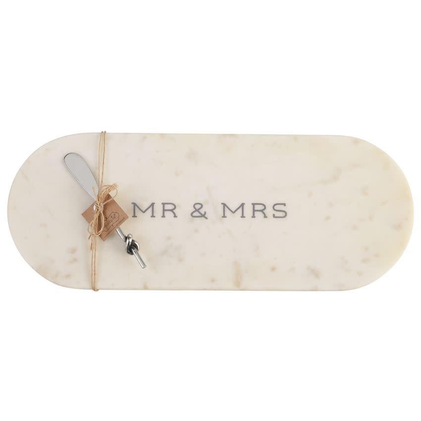 MUD PIE MR AND MRS MARBLE BOARD SET