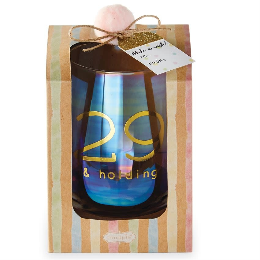MUD PIE BOXED WINE GLASS SET- 29