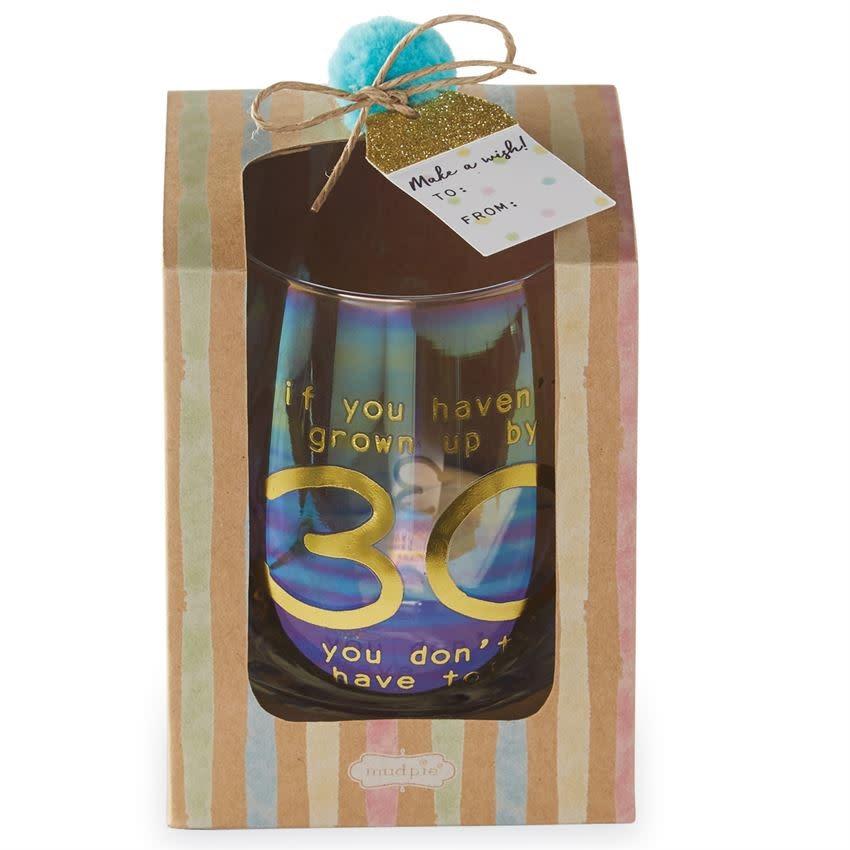 MUD PIE BOXED WINE GLASS SET- 30