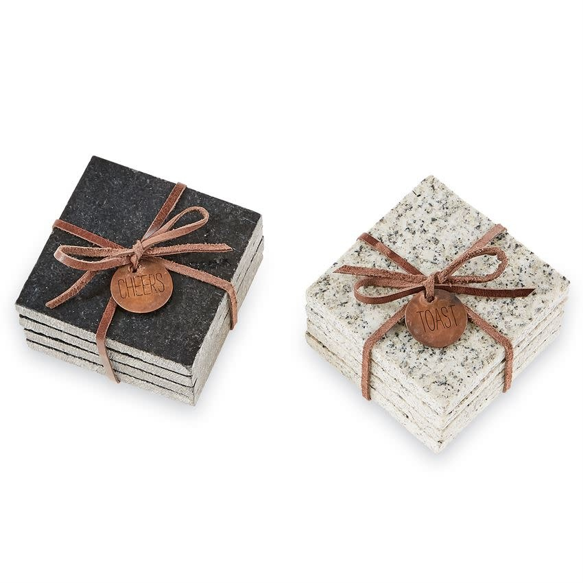 MUD PIE GRANITE COASTER SETS