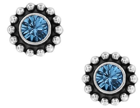 BRIGHTON TWINKLE MINI POST EARRINGS-SAPPHIRE